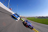 Monster Energy NASCAR Cup Series<br /> Daytona 500<br /> Daytona International Speedway, Daytona Beach, FL USA<br /> Sunday 18 February 2018<br /> Alex Bowman, Hendrick Motorsports, Nationwide Chevrolet Camaro and Denny Hamlin, Joe Gibbs Racing, FedEx Express Toyota Camry lead the field<br /> World Copyright: Lesley Ann Miller<br /> LAT Images
