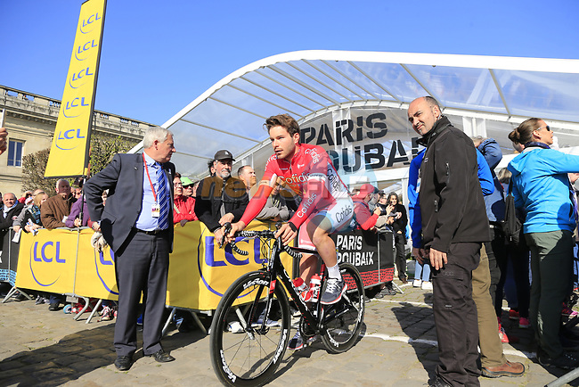 Florian Senechal (FRA) Cofidis at sign on for the 115th edition of the Paris-Roubaix 2017 race running 257km Compiegne to Roubaix, France. 9th April 2017.<br /> Picture: Eoin Clarke | Cyclefile<br /> <br /> <br /> All photos usage must carry mandatory copyright credit (&copy; Cyclefile | Eoin Clarke)