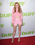 Bella Thorne attends The CBS Films Los Angeles fan screening of THE DUFF held at The TCL Chinese 6 Theater  in Hollywood, California on February 12,2015                                                                               © 2015 Hollywood Press Agency