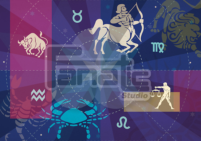 Twelve signs of zodiac