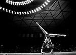 Salt Lake City , UT--3/10/06-- .Utah senior Dominique D'Oliveira competes on the beam during the meet against Oregon State. Utah won 196.575-195.150.<br />