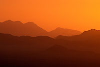 Sunset over mountain in Namib Desert, Namibia, Africa