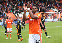 Blackpool's Michael Nottingham at the end of todays match<br /> <br /> Photographer Rachel Holborn/CameraSport<br /> <br /> The EFL Sky Bet League One - Blackpool v Bradford City - Saturday September 8th 2018 - Bloomfield Road - Blackpool<br /> <br /> World Copyright &copy; 2018 CameraSport. All rights reserved. 43 Linden Ave. Countesthorpe. Leicester. England. LE8 5PG - Tel: +44 (0) 116 277 4147 - admin@camerasport.com - www.camerasport.com