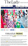 Editorial cutting from The Lady magazine online, the article extols the virtues of Frome.