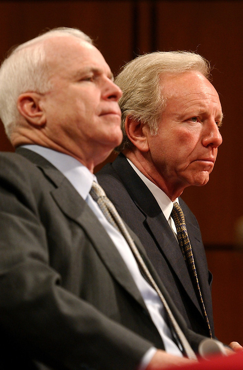 commission06/052103 - Sens. John McCain, R-Ariz., and Joe Lieberman, D-Conn., testified at the second public hearing of the National Commission on Terrorist Attacks upon the United States, also known as the 9-11 Commission, Thursday, in Hart Building.