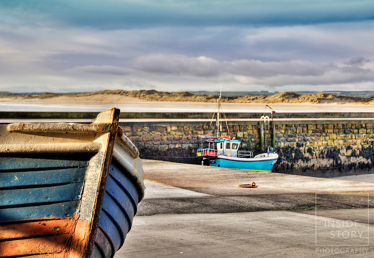 Boat on Beadnell Harbour