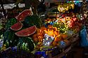 Fruit on a market stall in Zadar, Croatia.