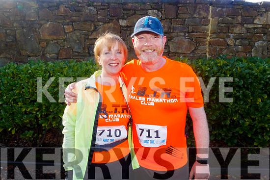 Brian and Lorna White from Listowel ready to run the 10miler and 5k Fundraising run for the Kerry Hospice on Sunday.