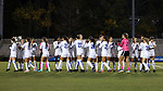 DURHAM, NC - NOVEMBER 11: Duke players during player introductions. The Duke University Blue Devils hosted the UNCG Spartans on November 11, 2017 at Koskinen Stadium in Durham, NC in an NCAA Division I Women's Soccer Tournament First Round game. Duke won the game 1-0.
