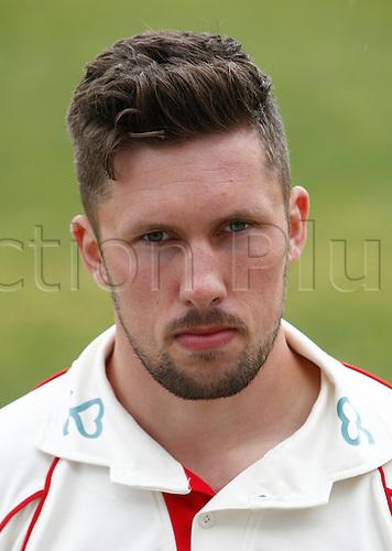 08.04.2016. Old Trafford, Manchester, England. Lancashire County Cricket Press Call. Lancashire bowler Simon Kerrigan.