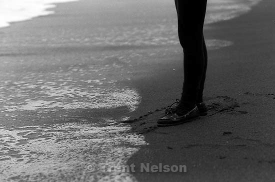 Laura Nelson at the beach.<br />