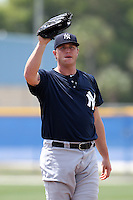 New York Yankees minor league player pitcher Andy Sisco #78 delivers a pitch during a game vs the Toronto Blue Jays at the Englebert Minor League Complex in Dunedin, Florida;  March 21, 2011.  Photo By Mike Janes/Four Seam Images