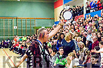 Fans<br /> -------<br /> Jim Adams gets the large crowd going during a time out at Tralee sports complex last Saturday night during the Tralee Worriors V DCU Saints basketball game.