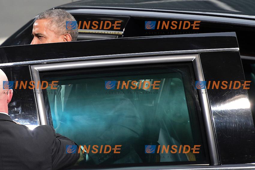 Barack Obama  Presidente USA<br /> Parigi 30-11-2015 <br /> COP21 Conferenza sui cambiamenti Climatici Paris Climate Conference <br /> Foto JB Autissier Panoramic / Insidefoto