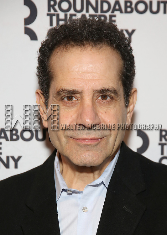Tony Shalhoub attends the photocall for the Roundabout Theater Company production of Arthur Miller's 'The Price' at The Roundabout Theatre Studios on January 19, 2017 in New York City.