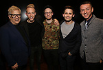 Ken Fallin, Justin Paul, Matt Gould, Benj Pasek and Andrew Lippa attends The Dramatists Guild Foundation Salon with Matt Gould on March 12, 2018 at StellarTower in New York City.