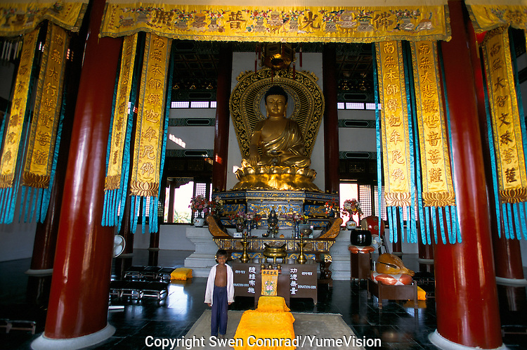 A Buddhist temple build by the Chinese in Lumbini Nepal, marks the birth place of Siddhartha Gautam Buddha..In 1976, the Nepalese Government and UNESCO designated Lumbini as a world heritage site..-The full text reportage is available on request in Word format