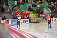 SPEEDSKATING: HAMAR: Vikingskipet, 28-02-2020, ISU World Speed Skating Championships, Sprint, 500m Ladies, Nao Kodaira (JPN), Letitia de Jong (NED), ©photo Martin de Jong
