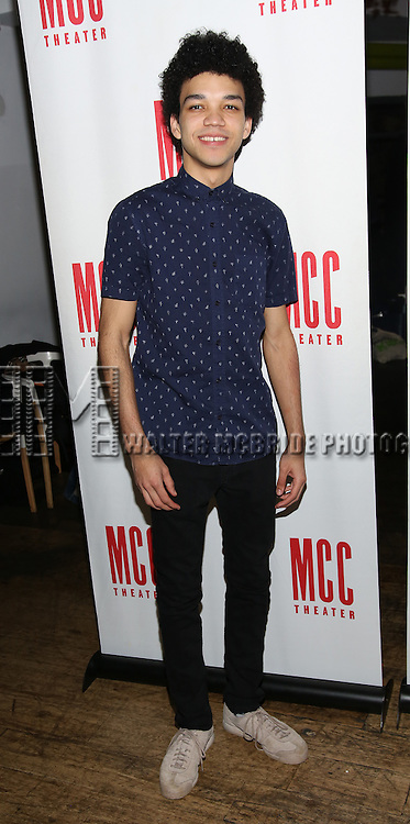 Justice Smith attends the 'Yen' Opening Night After Party at the Sushisamba on January 31, 2017 in New York City.