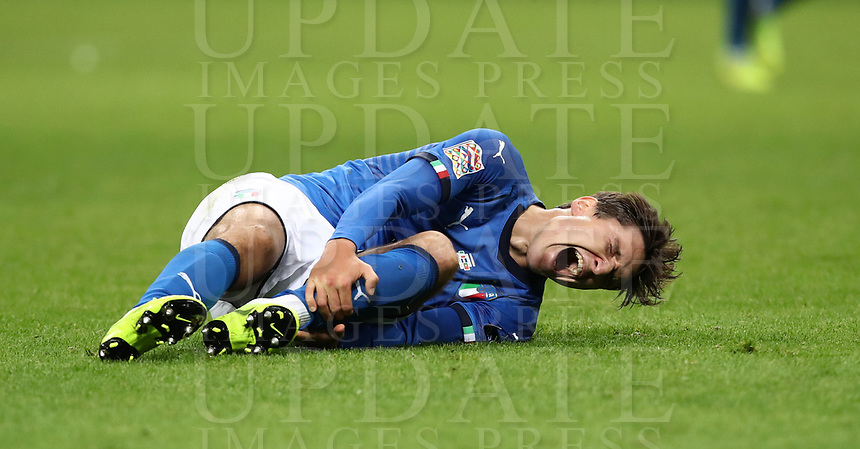 Football: Uefa Nations League Group 3match Italy vs Portugal at Giuseppe Meazza (San Siro) stadium in Milan, on November 17, 2018.<br /> Italy's Federico Chiesa reacts during the Uefa Nations League match between Italy and Portugal at Giuseppe Meazza (San Siro) stadium in Milan, on November 17, 2018.<br /> UPDATE IMAGES PRESS/Isabella Bonotto