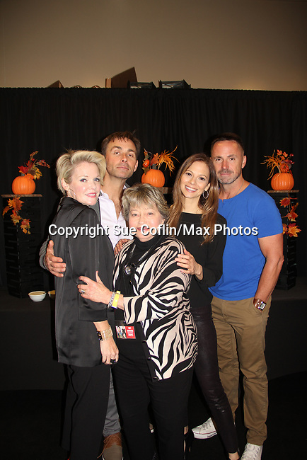 General Hospital's actors - Maura West, James Patrick Stuart, Tamara Braun, William DeVry & Joyce Becker on October 5, 2019 at the Hollywood Casino, Columbus, Ohio with a Q & A and a VIP meet and greet. (Photo by Sue Coflin/Max Photo)
