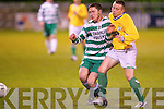 Killarney Celtic's Pa McGarth and Lisselton's Stephen O'Mahony.   Copyright Kerry's Eye 2008