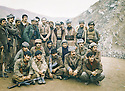 Iraq, 1979 <br /> In Nawzeng, in the middle standing, Mullazem Omar Abdallah and Omar Sheikhmous with peshmergas  <br /> Irak 1979 <br /> A Nawzeng, debout, au milieu des peshmergas, Mullazem Omar Abdallah et Omar Sheikhmous