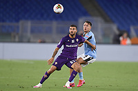 Patrick Cutrone of Fiorentina and Gil Patric of SS Lazio compete for the ball during the Serie A football match between SS Lazio and ACF Fiorentina at stadio Olimpico in Roma ( Italy ), June 27th, 2020. Play resumes behind closed doors following the outbreak of the coronavirus disease. Photo Antonietta Baldassarre / Insidefoto