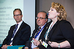 "BRUSSELS - BELGIUM - 24 November 2016 -- European Training Foundation (ETF) Conference on ""GETTING ORGANISED FOR BETTER QUALIFICATIONS"" - Panel discussion: Making QFs work globally. -- Koen Nomden, Team Leader - Skills and qualifications recognition tools - DG Employment  Social Affairs and Inclusion; Loukas Zahilas, Head of Department - European Centre for the Development of Vocational Training (CEDEFOP), Department for VET Systems and VET Institutions; Helene Skikos, Policy Officer - DG Education and Culture;. -- PHOTO: Juha ROININEN / EUP-IMAGES"