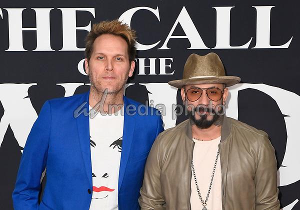 "13 February 2020 - Hollywood, California - AJ McLean and Mark Adler. ""The Call of the Wild"" Twentieth Century Studios World Premiere held at El Capitan Theater. Photo Credit: Dave Safley/AdMedia"