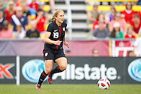 14 MAY 2011: USA Women's National Team defender Rachel Buehler (19) during the International Friendly soccer match between Japan WNT vs USA WNT at Crew Stadium in Columbus, Ohio.
