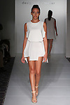 Model walks runway in an outfit from the Alawee Spring Summer 2017  collection by Mahshid Alavi, for the Designer's Premier Spring 2017 fashion show on September 10, 2016; during Fashion Gallery New York Fashion Week Spring Summer 2017.