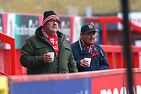 Fans on the North Terrace during Stevenage vs Reading, Emirates FA Cup Football at the Lamex Stadium on 6th January 2018