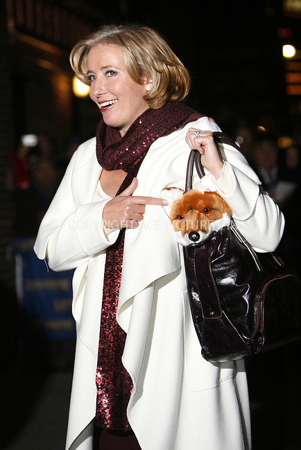 WWW.ACEPIXS.COM . . . . .  ....November 17 2008, New York City....Actress Emma Thompson at the Letterman Show on November 17 2008 in New York City....Please byline: NANCY RIVERA- ACE PICTURES.... *** ***..Ace Pictures, Inc:  ..tel: (646) 769 0430..e-mail: info@acepixs.com..web: http://www.acepixs.com