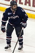 Max Kalter (UConn - 18) - The Boston College Eagles defeated the visiting UConn Huskies 2-1 on Tuesday, January 24, 2017, at Kelley Rink in Conte Forum in Chestnut Hill, Massachusetts.