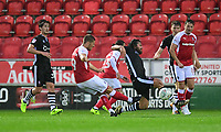 Rotherham United's Jamie Proctor scores the opening goal <br /> <br /> Photographer Chris Vaughan/CameraSport<br /> <br /> The Carabao Cup First Round - Rotherham United v Lincoln City - Tuesday 8th August 2017 - New York Stadium - Rotherham<br />  <br /> World Copyright &copy; 2017 CameraSport. All rights reserved. 43 Linden Ave. Countesthorpe. Leicester. England. LE8 5PG - Tel: +44 (0) 116 277 4147 - admin@camerasport.com - www.camerasport.com