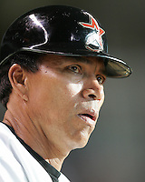 Houston Astros coach Jose Cruz on Saturday May 24th at Minute Maid Park in Houston, Texas. Photo by Andrew Woolley / Four Seam Images.