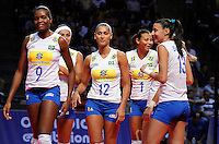 June 14, 2008 - Colorado Springs, CO...Brazil's Number 1 ranked team celebrates during Women's Olympic Exhibition Volleyball action between Brazil and the USA.  Brazil is currently the world's top ranked team going into the Olympics later this summer.  Team USA is currently ranked 4th...Brazil defeated Team USA 3-0 in the third of a three-match exhibition series at the U.S. Air Force Academy in Colorado Springs, Colorado...Larry Clouse/CSM....