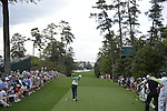 AUGUSTA, GA - APRIL 11: Fred Couples tees off during the First Round of the 2013 MAsters Golf Tournament at Augusta National Golf Club on April 10in Augusta, Georgia. (Photo by Donald Miralle) *** Local Caption ***