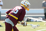Orange, CA 05/02/10 - Ryan Westfall (ASU # 15) in action during the Chapman-Arizona State MCLA SLC Division I final at Wilson Field on Chapman University's campus.  Arizona State defeated Chapman 13-12 in overtime.