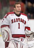 John Riley (Harvard - 1) - The Boston University Terriers defeated the Harvard University Crimson 6-5 in overtime on Tuesday, November 24, 2009, at Bright Hockey Center in Cambridge, Massachusetts.