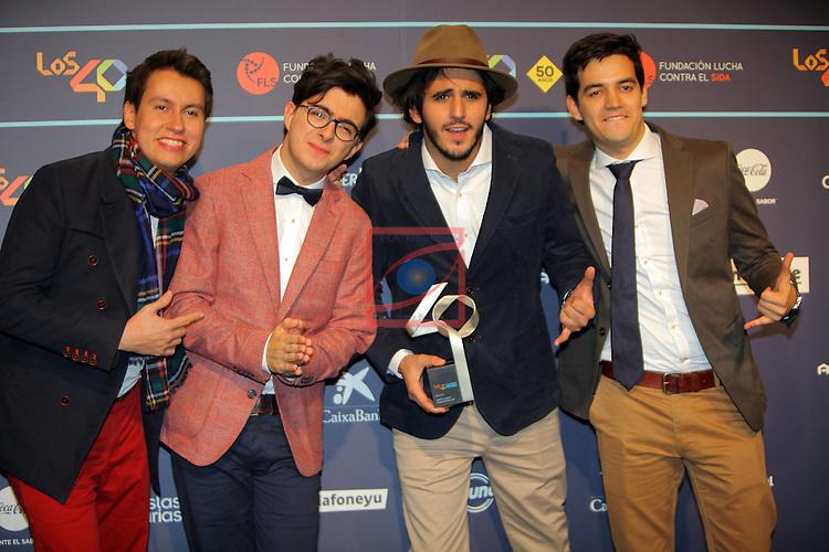 Los 40 MUSIC Awards 2016 - Photocall.<br /> Morat.