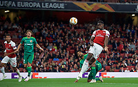 Danny Welbeck of Arsenal scores a goal to make it 2-0  during the UEFA Europa League match group between Arsenal and Vorskla Poltava at the Emirates Stadium, London, England on 20 September 2018. Photo by Andrew Aleks / PRiME Media Images.