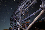 Starry Skies Over the Abandoned Idarado Mine Trestle at the Ghost Town of Guston, Colorado