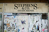 Closed down estate agent's office, Cricklewood, London