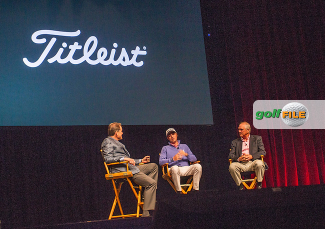 Justin and Mike Thomas, talk to Titleist during the 2016 PGA Merchandise Show, from the Orange County Convention centre, Orlando, Florida. 26/1/16<br /> Picture: Mark Davison | Golffile<br /> <br /> <br /> All photos usage must carry mandatory copyright credit (&copy; Golffile | Mark Davison)