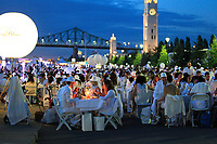 File Photo  - 6,000 guests, all-dressed in white,attend the Montreal's DINER EN BLANC in Old-Port, August 13, 2015.
