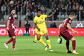 September 8th 2017, Stade Saint-Symphorien, Metz, France; French League 1 football, Metz versus Paris St Germain;  PRESNEL KIMPEMBE (psg) challenged by Philipps