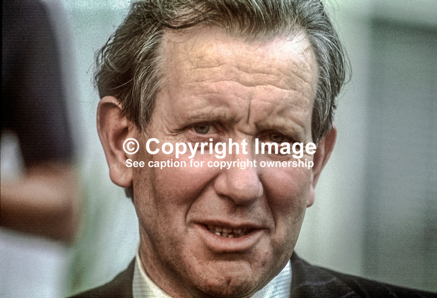Patrick Faulkner, aka Padraig Faulkner, TD, Fianna Fail, Transport Minister, Rep of Ireland, July, 1977, 1978070084<br />