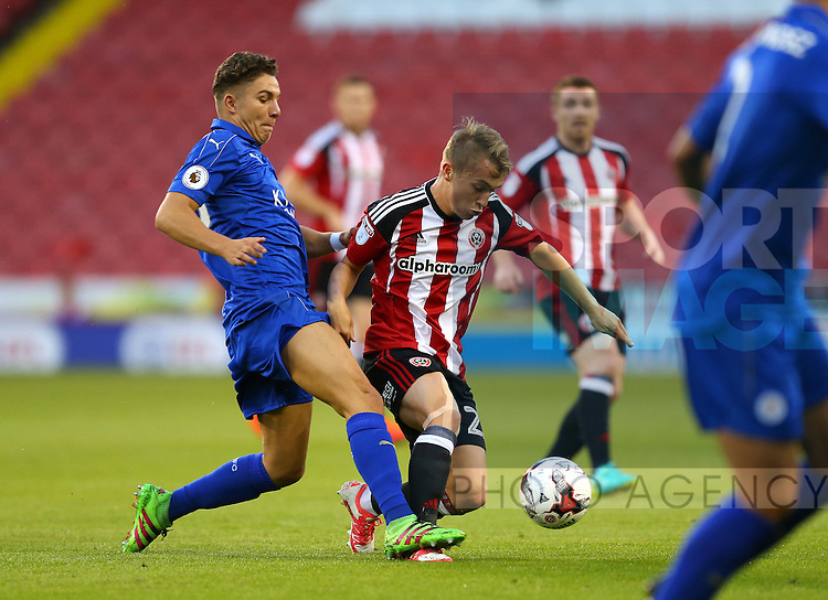 Louis Reed of Sheffield Utd during the Checkatrade Trophy match at Bramall Lane Stadium, Sheffield. Picture date: August 30th, 2016. Pic Simon Bellis/Sportimage